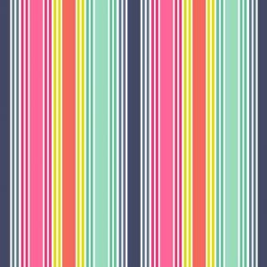 Fantasy Multi Stripe Fabric by Makower for Andover