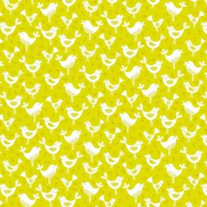 Andover Fantasy Green Birds Fabric
