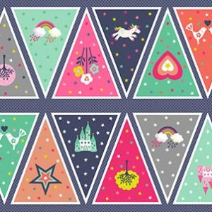 Andover Fantasy Bunting Panel Fabric
