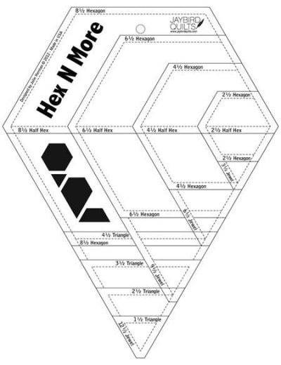 Hex N More ruler without packaging